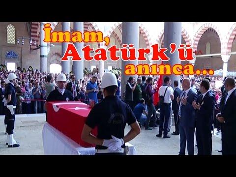 Şehit cenazesinde İmam, Atatürk'ü Anınca Alkış Koptu!