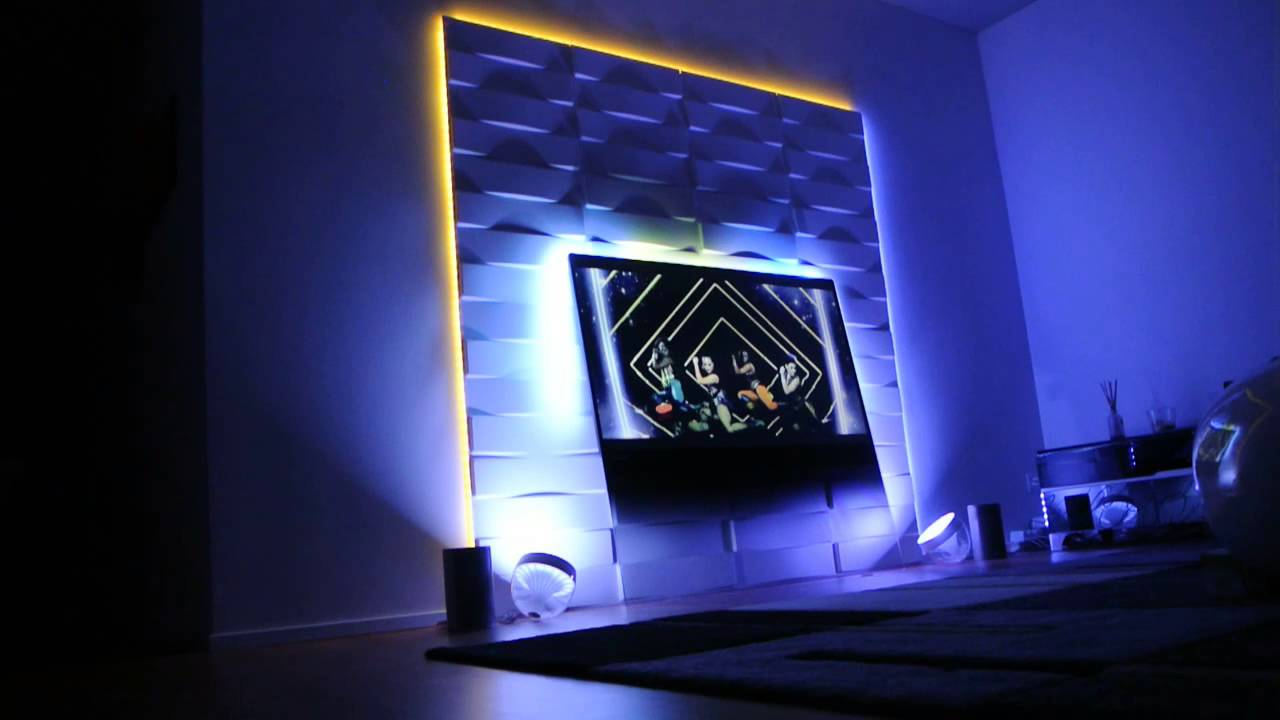 Ambilight Hue On Tv Wall Music Video Youtube