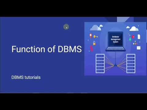 Functions of Dbms ,, DBMS tutorials