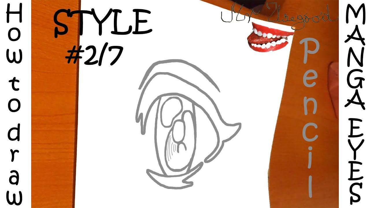 Jak Kreslit Manga Eyes S Tuzkou Easy Episode 2 7 Youtube