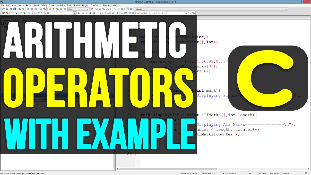 C Programming  13 - Arithmetic Operators