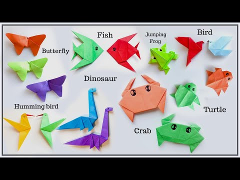 8 Origami Animals | Paper Animals | Easy Origami Animals.