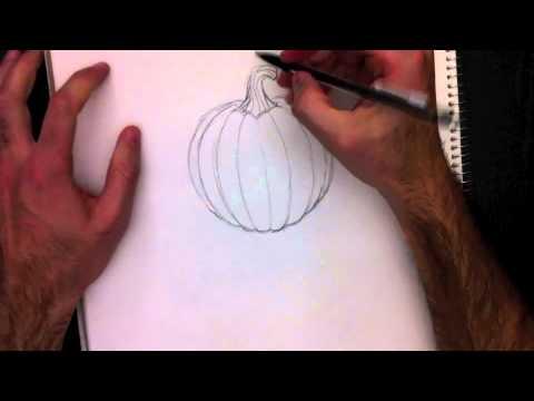 Dessiner une citrouille avec paolo morrone youtube - Decoration de citrouille originale ...