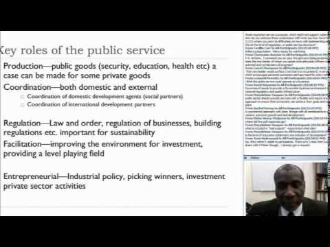 CLP Webinar: The Role of the Public Service in Economic Development
