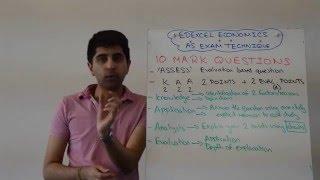 Edexcel AS Economics - 10 Marker Exam Technique