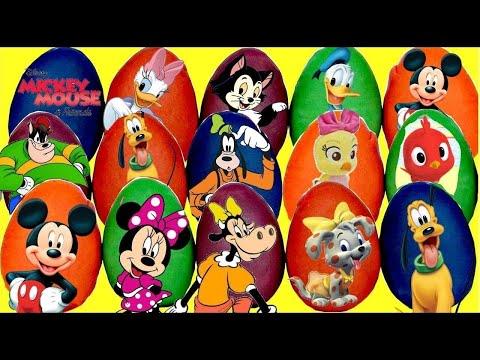 21 Play-doh Easter Surprise Toy Eggs: TROLLS Poppy, Paw Patrol Chase, Disney Jr. Mickey Minnie TUYC