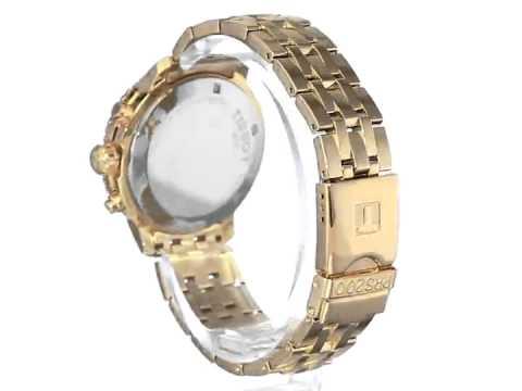 b7684350b Tissot PRS 200 Men's Blue Chronograph Dial Yellow Gold Watch T067 417 33 041