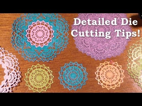 Thin detailed die cutting tips