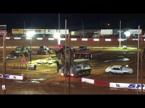 Megasaurus eating car Dixie Speedway 9/16/17