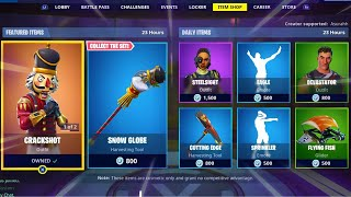 CRACKSHOT | CRACKABELLA | SNOW GLOBE | SPRINKLER; Item Shop in FORTNITE #December19th