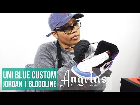 Custom Uni Blue Air Jordan 1 Bloodline