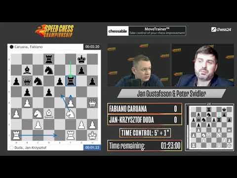 Caruana vs Duda | Speed Chess Championship | Jan Gustafsson & Peter Svidler