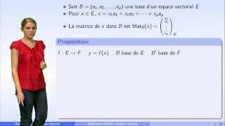 Matrices et applications linéaires - partie 4 : changement de bases