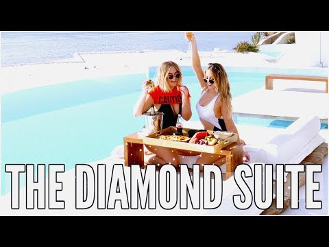 MYKONOS: WE STAYED IN THE DIAMOND SUITE & FULL SUITE TOUR | LUCYANDLYDIA