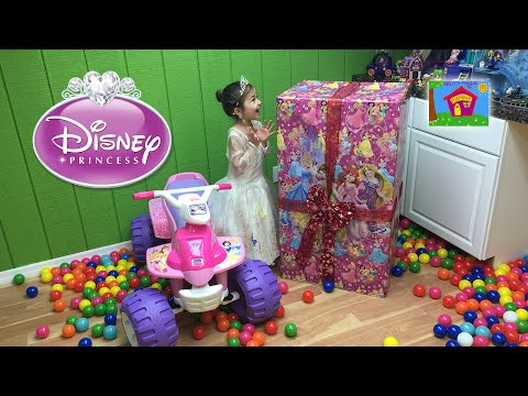 World's Biggest Disney Princess Surprise Toys Box Opening Kids Video