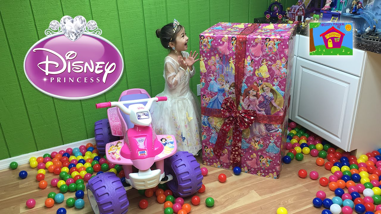 Toys For Big : Huge disney princess surprise toys box w power wheels