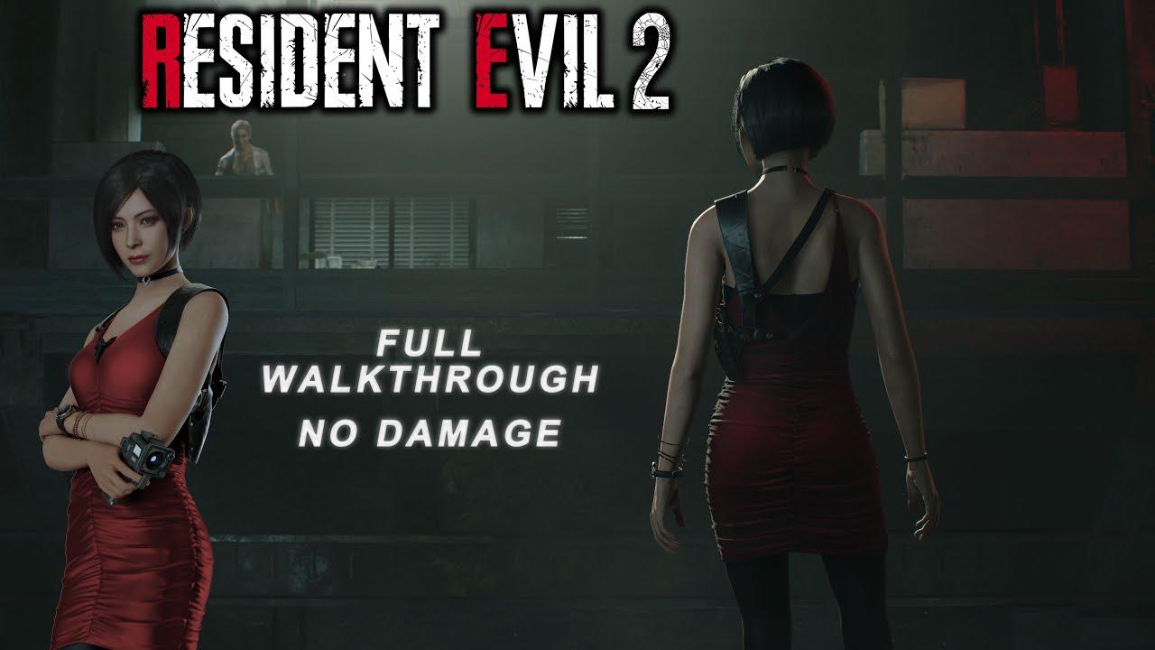 Resident Evil 2 Remake Ada Wong Full Walkthrough (No Damage)