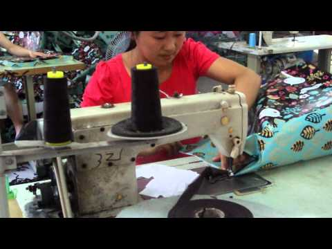 Smartbags.co.uk tour of bag stitching factory in China
