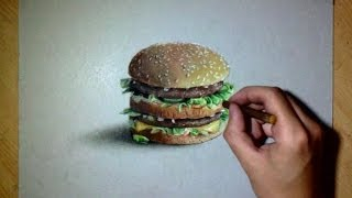 How i draw a realistic BIG MAC