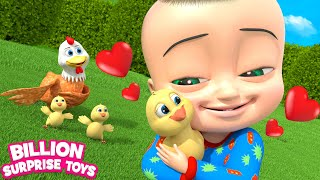 Little Chick in the Egg | Baby Songs | Billion Surprise Toys