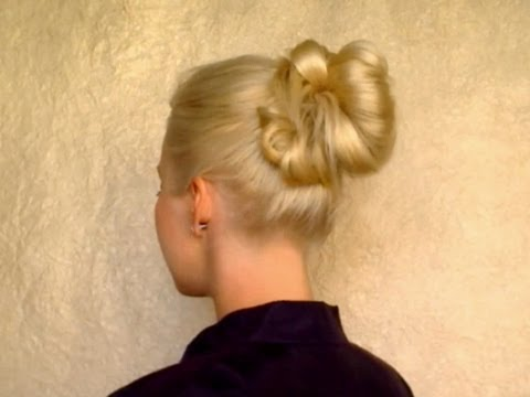 how to do hair styles 5 minute updo for everyday top knot bun school 2492