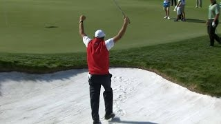Phil Mickelson's masterful bunker hole out at The Presidents Cup
