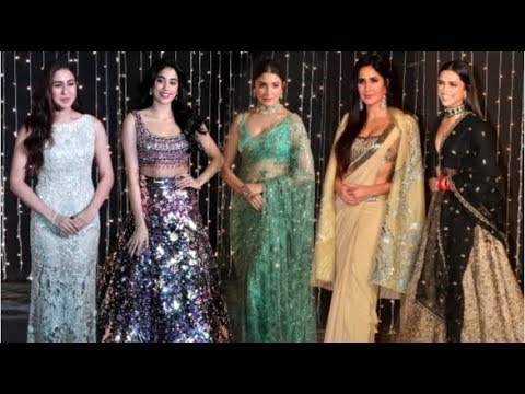 Bollywood Actress HOT Look At Priyanka Nick Wedding Reception- Deepika, Jhanvi, Sara