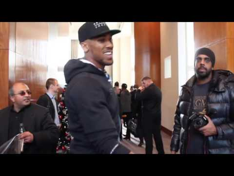 ANTHONY JOSHUA & TEAM JOSHUA ARRIVE FOR PRESS CONFERENCE / BAD INTENTIONS