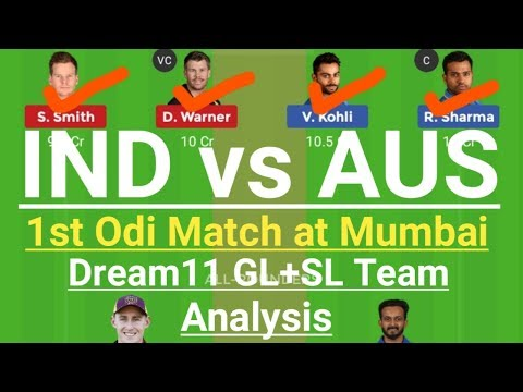 IND VS AUS 1st Odi Match Dream11 Team,India vs Australia 2020 Squad,Ind vs Aus Dream11 Team