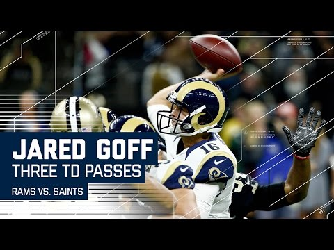 Goff Goes Off! Rookie Throws 3 TDs in First Half | Rams vs. Saints | NFL