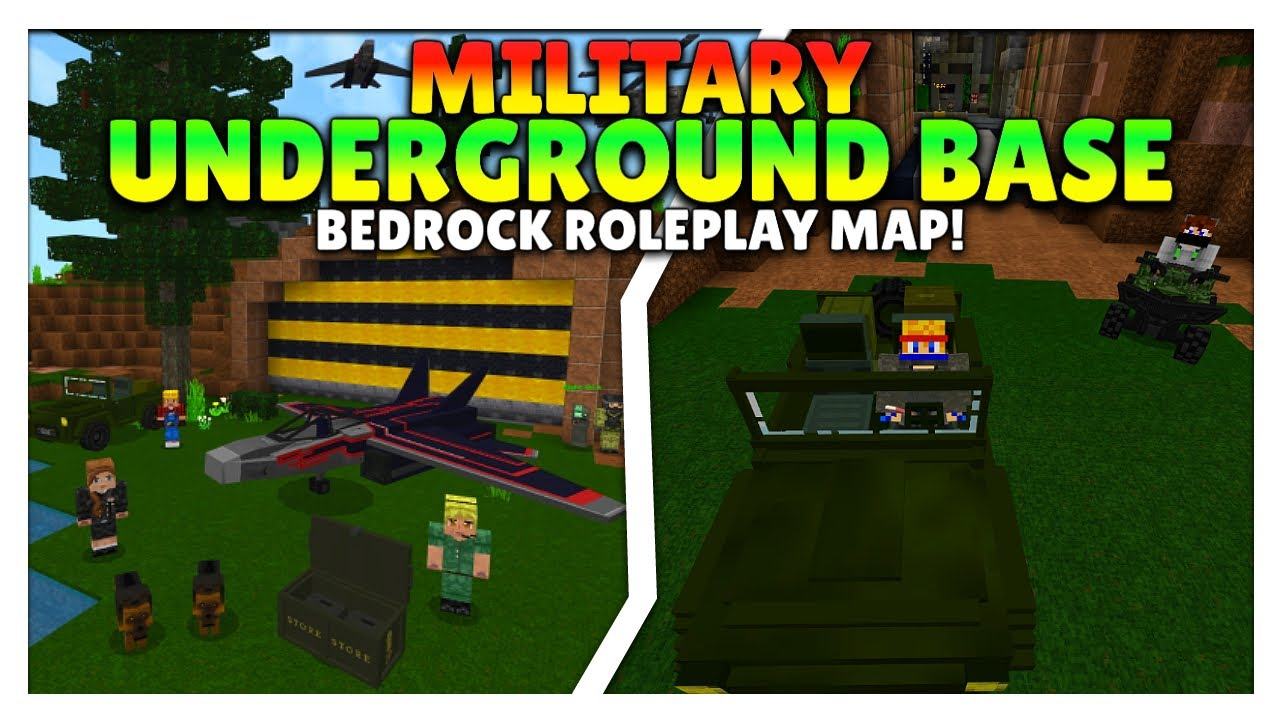 Military Underground Base - Bedrock Map Gameplay | Minecraft Hindi