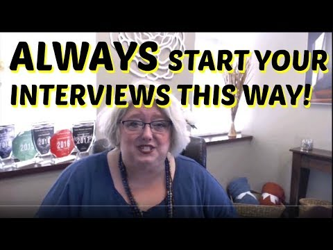 Job Interviewing Tips: How to Start Every Interview to Get a Job