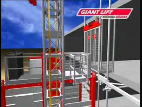 Грузопассажирский мачтовый подъемник Giantlift