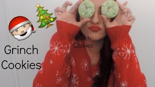 Christmas Cookie Exchange: Grinch Cookies