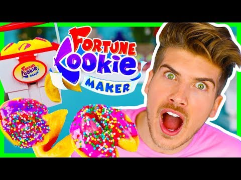 TESTING STUPID KID TOYS!  FORTUNE COOKIE MAKER