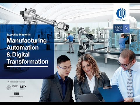 Master in Manufacturing Automation & Digital Transformation