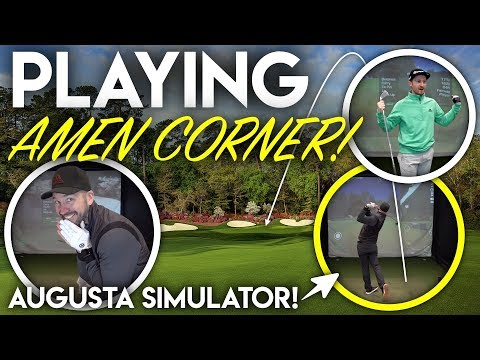 Playing Amen Corner!! Masters Challenge vs Seb on Golf