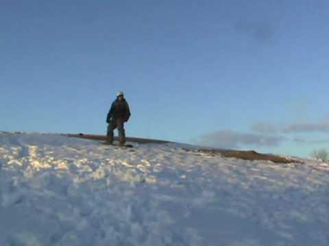 Snowboarding front flip