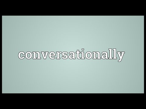 Header of conversationally