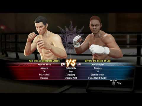 Yakuza 0 - Coliseum Tournament - NO DAMAGE x 3 ( Katsuragi, Valeno, Dead Puncher ) Kiryu - ( Hard)