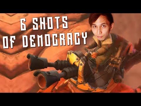 SIX SHOTS OF DEMOCRACY (SingSing Dota 2 Highlights #1480)