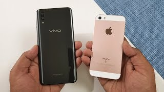 vivo x21 vs iphone se speedtest comparison...which is faster, we ar...