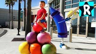 ВЛОГ Америка Детский Развлекательный Центр КРАЙОЛА в Орландо Видео для Детей vlog for children