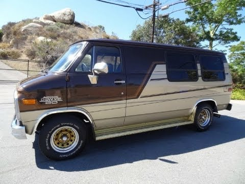 Conversion Van RV Campervan Chevy G20 Video Camper Motorhome Truck Vans SUV