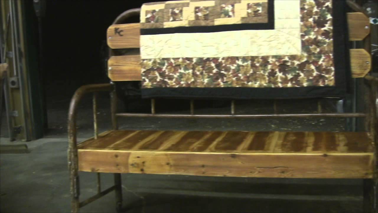Antique bed frame Benches YouTube