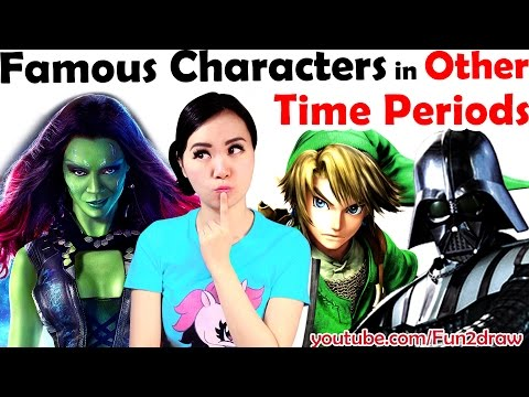 Draw Famous Characters In Other Time Periods! | Characters Reimagined | New Art Challenge! | Mei Yu