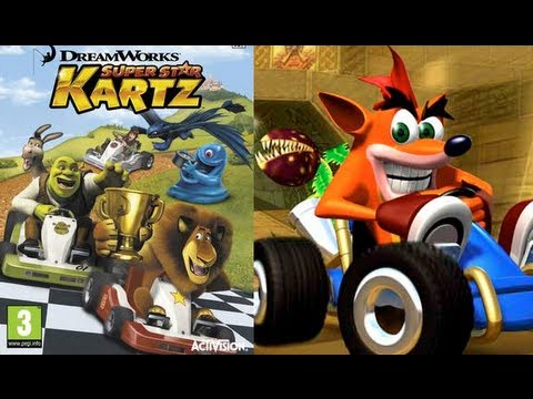ctr 2010 compared to dreamworks kartz the released crash team