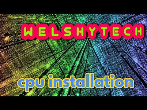 how to install a cpu processor installation tutorial