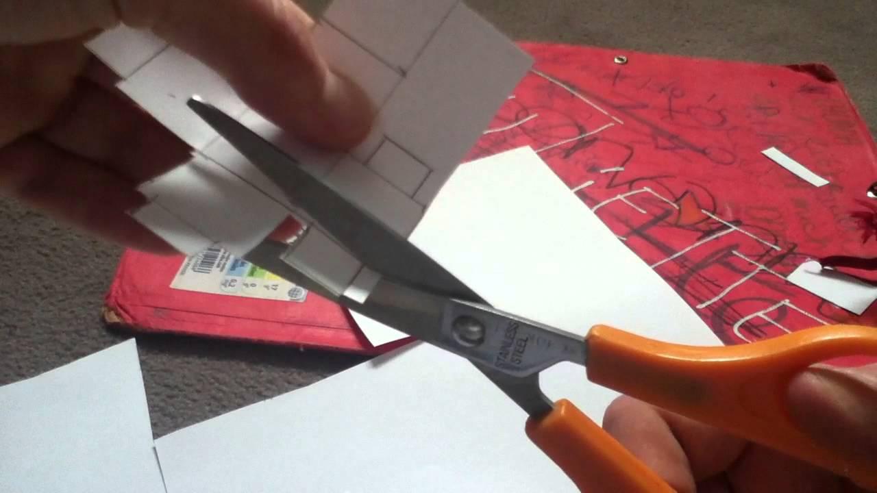 fabriquer un d comment faire un d en papier youtube. Black Bedroom Furniture Sets. Home Design Ideas