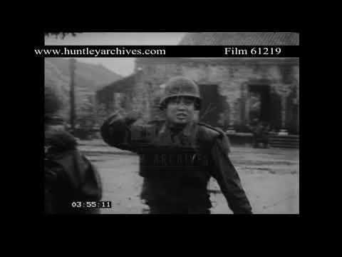 Vietnamese Troops near Hue.  Archive film 61219